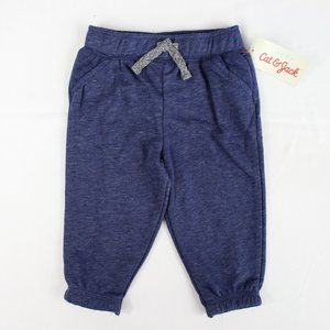 Cat & Jack Baby Boy Blue Jogger Sweatpants 6-9M